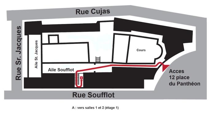 Plan accès salle Panthéon
